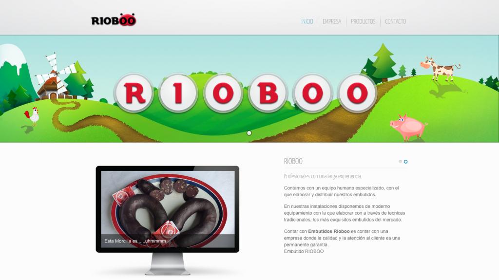 Estrenamos web de la empresa de embutido RIOBOO