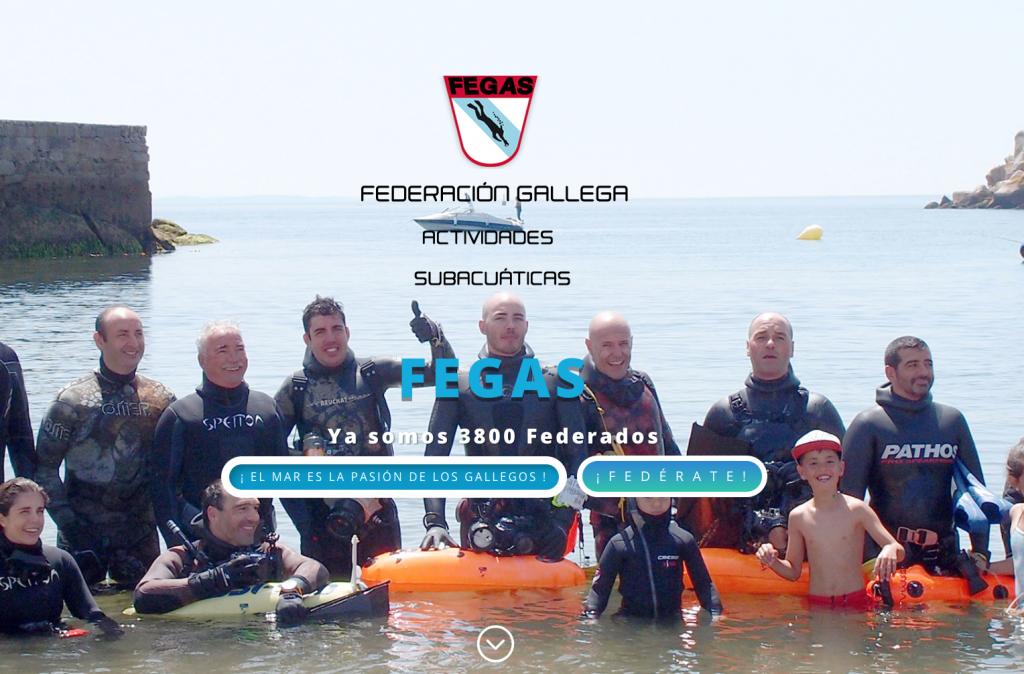 Desarrollada la nueva web para la FEGAS – Federación Gallega de Actividades Subacuáticas