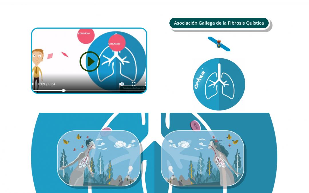 Hemos creado la nueva web de la Asociación Gallega de Fibrosis Quística.